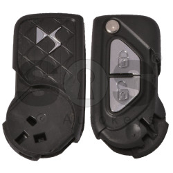 OEM Flip Key for Citroen DS3 Buttons:2 / Frequency:434 MHz / Transponder: HITAG2/ ID46 / PCF7941 / Blade signature:VA2 / Immobiliser System:Delphi / Part No.: 6490FP