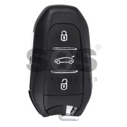 OEM Smart Key for Citroen Buttons:3 / Frequency: 433MHz / Transponder: HITAG 128-bit AES/ PCF7953M / Blade signature: VA2/HU83 / Immobiliser System: BCM / Part No: 98097833ZD / (TRUNK BUTTON) Keyless Go