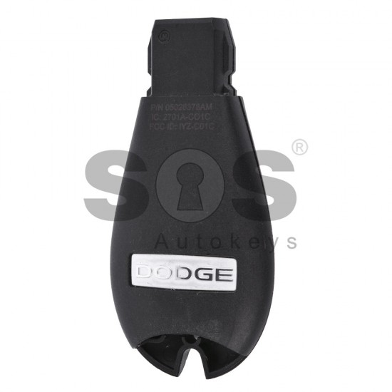 OEM Smart Key for Dodge Buttons:3+1 / Transponder:PCF 7941/ Frequency:433 MHz / Blade signature:CY24 / Part No:05026378AM ( Automatic Start )