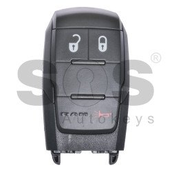 OEM Smart Key for Dodge RAM 2019+ Buttons:2+1 / Frequency:434MHz / Transponder: HITAG/ 128-bit/  AES/ PCF7953M / Blade signature:CY24/SIP22 / FCC ID:G04-76T / Keyless Go