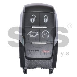 OEM Smart Key for Dodge RAM Buttons:4+1 / Frequency:434MHz / Transponder: HITAG/ 128-bit/  AES/ PCF7953M / Blade signature:CY24/SIP22 / FCC ID:GQ4-76T / Keyless Go / (Automatic Start)