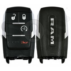 OEM Smart Key for Dodge RAM Buttons:3+1 / Frequency:434MHz / Transponder: HITAG/ 128-bit/  AES/ PCF7953M / Blade signature:CY24/SIP22 / Keyless Go / (Automatic Start)