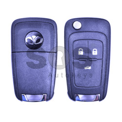 OEM Flip  Key for Daewoo Buttons:3 / Frequency:433MHz / Transponder:PCF 7937 /  Blade signature:HU100 / Immobiliser System:BCM / Part No:GM13500210