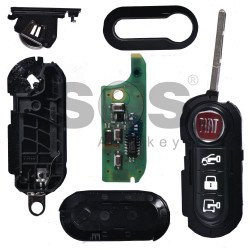 OEM Flip Key for Fiat Ducato/Doblo Buttons:3 / Frequency:434MHz / Transponder: HITAG2/ ID46/ PCF7946 (Locked) / Blade signature:SIP22 / Immobiliser System:Delphi BSI