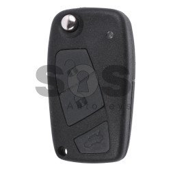 Flip Key for Fiat Linea Buttons:3 / Frequency:433MHz / Transponder:ID48 / Blade signature:SIP22 / Immobiliser System:Marelli BSI