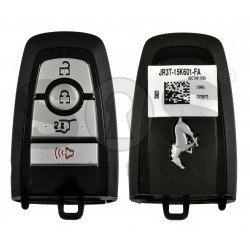 OEM Smart Key For Ford Mustang  Buttons:3+1 / Frequency:315MHz / Transponder:HITAG PRO / Blade signature:HU101 / Part No:JR3T-15K601-FA / Keyless GO