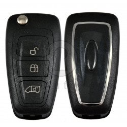 Flip Key for Ford Transit 2015+ Buttons:3 / Frequency:433 MHz / Transponder:PCF7945/HITAG PRO / Blade signature:HU101 / Immobiliser System:Dashboard / Part No: GK2T-15K601-AB