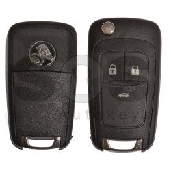 OEM Flip Key for Holden Buttons:3 / Frequency: 315MHz / Transponder: HITAG2/ ID46 / Blade signature: HU100 / Immobiliser System: BCM / Part No: GM13500223