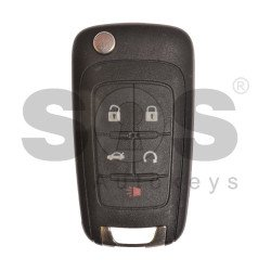 OEM Flip Key for Buick(GM) / Buttons:5 / Frequency: 315MHz /Transponder: HITAG2/ ID46 / Blade signature: HU100 / Immobiliser System: BCM / Part No: 13500226 (Automatic Start)