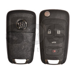 OEM Flip Key for Buick (GM) / Buttons:4 / Frequency: 315MHz / Blade signature: HU100 / Immobiliser System: BCM / Part No: 13500227