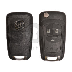 OEM Flip Key for Buick(GM) / Buttons:3 / Frequency: 315MHz / Transponder: HITAG2/ ID46 / Blade signature: HU100 / Immobiliser System: BCM / Keyless GO