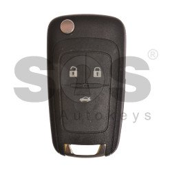 OEM Flip Key for Buick(GM) / Buttons:3 / Frequency: 315MHz / Transponder: HITAG2/ ID46 / Blade signature: HU100 / Immobiliser System: BCM / Part No: 13500459/ 13500460