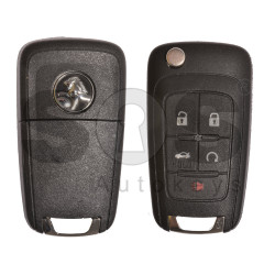 OEM Flip Key for Holden(GM) / Buttons:5 / Frequency: 434MHz / Transponder: HITAG2/ ID46 / Blade signature: HU100 / Immobiliser System: BCM / Part No: 13585403 / 13585405 / Keyless GO
