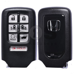 OEM Smart Key for Honda ODISSEY Buttons:6+1 / Frequency:433MHz / Transponder:HITAG 128-Bit AES Honda / Blade signature:HON66 / Part No:72147-THR-A11 / Keyless Go ( Automatic Start )