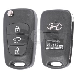 OEM Flip Key for Hyundai Buttons:3 / Frequency:433MHz / Transponder:PCF 7936/ HITAG2/ ID46 / Blade signature:HY22 / Immobiliser System:Immobiliser Box / Part No:95430-2L600/ 95430-1J050