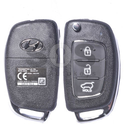 OEM Flip Key for Hyundai Buttons:3 / Frequency:433MHz / Transponder:PCF 7936/ ID46/ HITAG2 / Blade signature:HY22 / Immobiliser System:Immobiliser Box / Part No:RKE-4S08