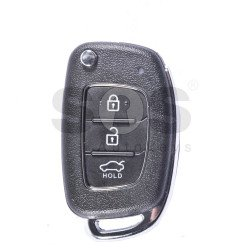 OEM Flip Key for Hyundai Buttons:3 / Frequency:433MHz / Transponder:HITAG 128-Bit AES / PCF 7938 / Blade signature:Y-6DP1 / Immobiliser System:Immobiliser Box / Part No: 95440-B4100 / 95430-B9500