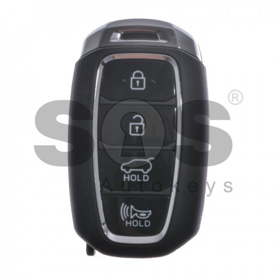 OEM Smart Key for Hyundai Accent 2018 + Buttons:4 / Frequency:433MHz / Transponder:HITAG 128-Bit AES/ID47 / Blade signature:HY22 / Part No:95440-J0100 / Keyless Go
