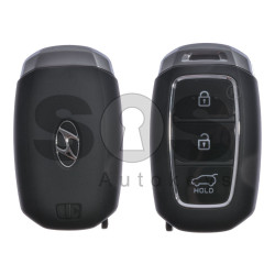 OEM Smart Key for Hyundai Buttons:3 / Frequency:433MHz / Transponder:HITAG3/128-bit AES/ID47 / Blade signature:HY22 / Part No:95440-K4100 / Keyless Go