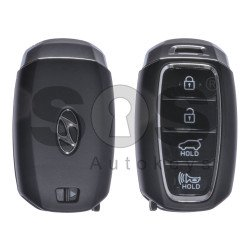 OEM Smart Key for Hyundai Santa Fe Buttons:4 / Frequency:433MHz / Transponder:HITAG3/128-bit AES/ID47 / Blade signature:HY22 / Part No:95440-S1000 / Keyless Go
