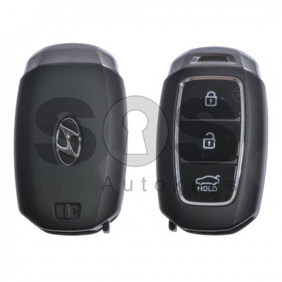 OEM Smart Key for Hyundai Kona Buttons:3 / Frequency:433MHz / Transponder:HITAG3/128-Bit AES/ID47 / Blade signature:HY22 / Part No:95440-J9100 /2nd variant/ Keyless Go