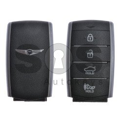 OEM Smart Key for Hyundai Genesis G70 Buttons:4 / Frequency:433MHz / Transponder:HITAG3/128-bit AES/ID47 / Blade signature:HY22 / Part No:95440-G9000 / Keyless Go