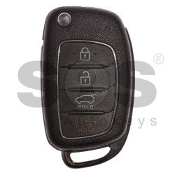 OEM Flip Key for Hyundai Buttons:3+1 / Frequency: 433MHz / Transponder: TMS37145 80-Bit / ID6D-60 / Blade signature:HY22 / Immobiliser System: Immobiliser Box / Part No: 95430-2W010/ RKE-4F3