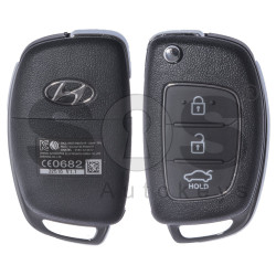 OEM Flip Key for Hyundai Sonata  Buttons:3 / Frequency: 433MHz / Transponder: HITAG2/ ID46 / Blade signature: HY22 / Part No: 95430-3S461