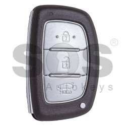 OEM Smart Key for Hyundai I10 Buttons:3 / Frequency:433MHz / Transponder: HITAG2/ ID46/ PCF7953 / Blade signature: HY22 / Part No: 95440-B4500 / Keyless Go