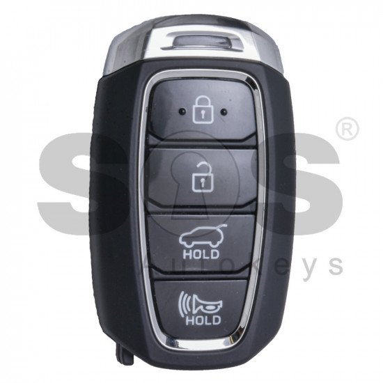 OEM Smart Key for Hyundai Kona 2019 Buttons:4 / Frequency:433MHz / Transponder:HITAG3/128-Bit AES/ID47 / Blade signature:HY22 / Part No:95440-J9000 / Keyless Go