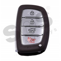 OEM Smart Key for Hyundai Elantra 2016-2017 / Buttons:3+1 / Frequency:433MHz / Transponder:Texas Crypto 128-bit AES  / Blade signature:HY22 / Part No:95440-F2000 / Keyless Go