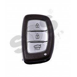 OEM Smart Key for Hyundai Elantra 2019+ / Buttons:3 / Frequency:433MHz / Transponder:Texas Crypto 128-bit AES  / Blade signature:HY22 / Part No:95440-F2102 / Keyless Go