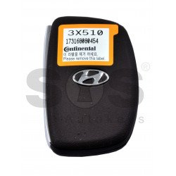 OEM Smart Key for Hyundai Elantra 2014-2016 / Buttons:3 / Frequency:433MHz / Transponder:PCF 7952/ Blade signature:HY22 / Part No:95440-3X510 / Keyless Go
