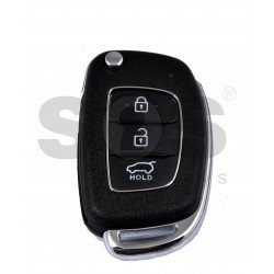 OEM Flip Key for Hyundai I 20 2015+ Buttons:3 / Frequency:433MHz / Transponder: PCF7938XA / ID47 / Blade signature:HY22 / Immobiliser system:Immobiliser Box / Part No:95430-C7600