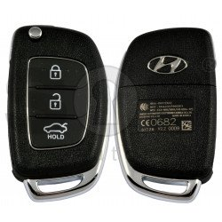 OEM Flip Key for Hyundai I10  2013-2016 Buttons:3 / Frequency:433 MHz / Transponder: PCF 7938  / Part No: 95430-B4100 /  Manufacture: Hyundai Mobis