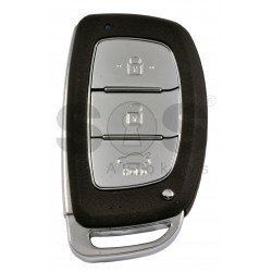 OEM Smart Key for Hyundai I40 2015+ Buttons:3 / Frequency: 433MHz / Transponder:Texas Crypto 128 Bit AES / Blade signature:HY22 / Part No:95440-3Z003 / Keyless Go