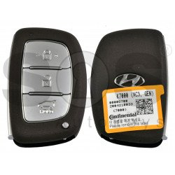 OEM Smart Key for Hyundai I 10 Buttons:3 / Frequency: 433MHz / Transponder:HITAG3/ NCF2951X/ NCF2952X / Blade signature:HY22 / Part No:95440-K7000/ Keyless Go