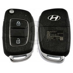 OEM Flip Key for Hyundai H1  Buttons:2 / Frequency:433MHz / Transponder:PCF 7936/ ID46/ HITAG2 / Blade signature:HY22 / Immobiliser System:Immobiliser Box / Part No:95430-4H400/95430-4H300