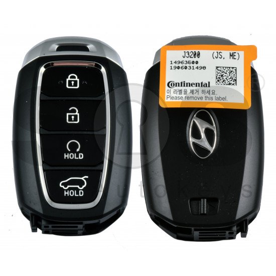 OEM Smart Key for Hyundai Veloster 2019+ Buttons:4 / Frequency:433MHz / Transponder:HITAG 3/NCF 2951X/ NCF2952X/ Blade signature:HY22 / Part No:95440-J3200/ Keyless Go / Automatic start