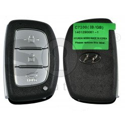 OEM Smart Key for Hyundai I 20 2018+ Buttons:3 / Frequency: 433MHz / Transponder: 7945/7953/HITAG 2 / Blade signature:HY22 / Part No:95440-C7100/ Keyless Go