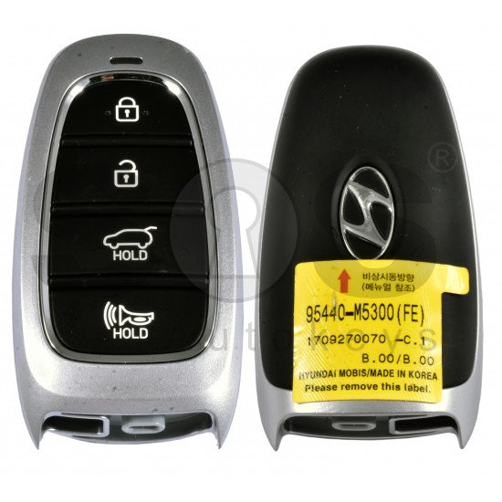 OEM Smart Key for Hyundai Nexo 2020+  Buttons:4 / Frequency:433MHz / Transponder:HITAG 3/NCF 29A1X/ Blade signature:HY22 / Part No: 95440-M5300 / Keyless Go /
