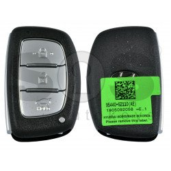 OEM Smart Key for Hyundai Ioniq 2019+ Buttons:3 / Frequency: 433MHz / Transponder:HITAG3/ NCF2951X/ NCF2952X / Blade signature:HY22 / Part No: 95440-G2110 / Keyless Go