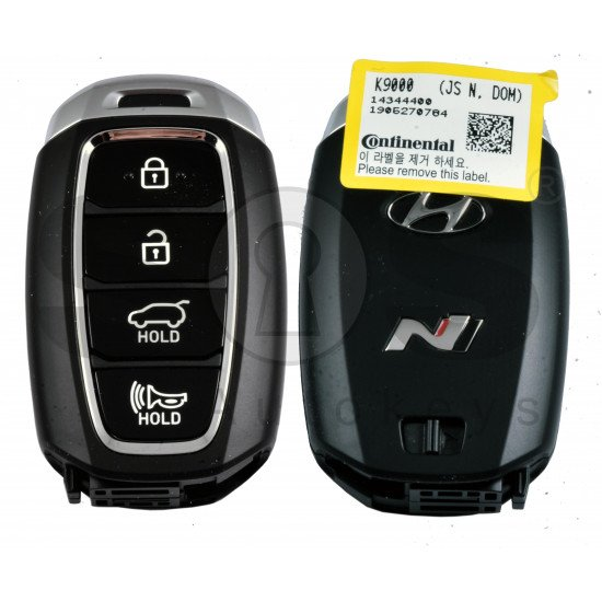 OEM Smart Key for Hyundai Veloster  2017-2019 Buttons:4 / Frequency:433MHz / Transponder:NCF29A/HITAG 3/ Part No:95440-K9000/ Keyless Go /