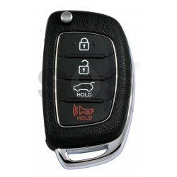 OEM Flip Key for Hyundai Tucson 2012+  Buttons:3+1P / Frequency:433MHz / Transponder:PCF 7936/ HITAG2 / Blade signature:HY22 / Immobiliser System:Immobiliser Box / Part No:95430-2S700/2S701