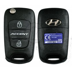 OEM Flip Key for Hyundai Accent 2012-2013  Buttons:2 / Frequency:433MHz / Transponder:PCF 7936/ HITAG2 / Blade signature:HY22 / Immobiliser System:Immobiliser Box / Part No: 95430-1R110