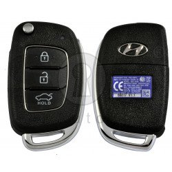 OEM Flip Key for Hyundai Accent 2014-2016 Buttons:3 / Frequency:433MHz / Transponder:PCF7936/HITAG2  / Blade signature: / Immobiliser System:Immobiliser Box / Part No: 95430-1RAB1