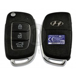 OEM Flip Key for Hyundai Accent 2017 Buttons:3 / Frequency:433MHz / Transponder:TIRIS DST 80  / Blade signature: / Immobiliser System:Immobiliser Box / Part No: 95430-1RAC1