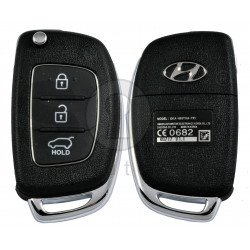 OEM Flip Key for Hyundai I20 2016-2017 Buttons:3 / Frequency:433MHz / Transponder:PCF7938/HITAG 3  / Blade signature: / Immobiliser System:Immobiliser Box / Part No:  95430-B9100