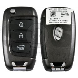 OEM Flip Key for Hyundai Sonata 2020+ Buttons:3 / Frequency:433MHz / Transponder: PCF7938/HITAG 3   / Blade signature: / Immobiliser System:Immobiliser Box / Part No:  95430-L1200