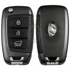 OEM Flip Key for Hyundai  Azera 2018-2019 Buttons:3 / Frequency:433MHz / Transponder: PCF7938/HITAG 3   / Blade signature: / Immobiliser System:Immobiliser Box / Part No:  95430-G8100